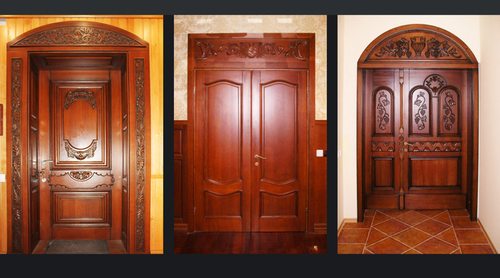 Фото дверей из массива