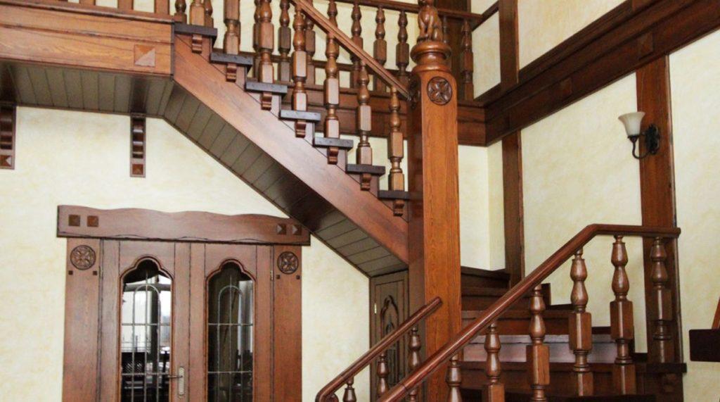 Середина лестницы в стиле прованс